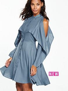 lost-ink-split-sleeve-shirt-dress