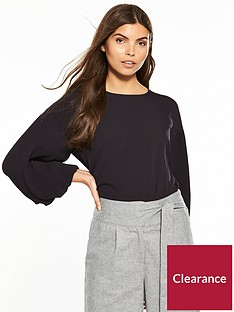 0e21b254f3f Lost Ink Pleated Sleeve Crop