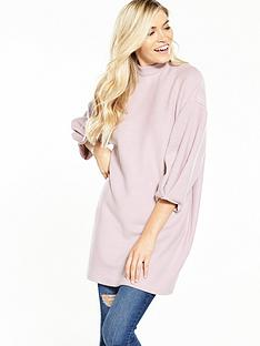 lost-ink-oversize-folded-sleeve-sweat-light-pink