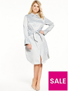 lost-ink-curve-shirt-dress-with-tie-waist-grey