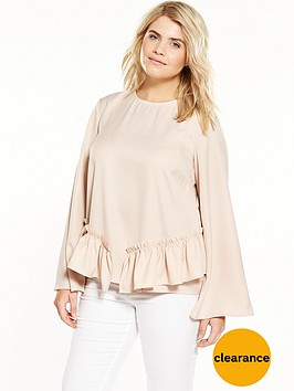 lost-ink-curve-top-with-ruffle-hem-nude