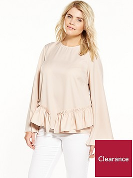 lost-ink-plus-top-with-ruffle-hem-nude