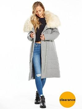 lost-ink-faux-fur-collar-longline-wool-padded-coat