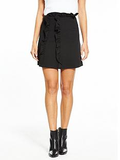 lost-ink-frill-waist-textured-mini-skirt