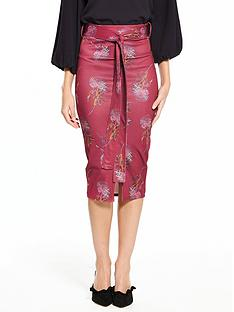 lost-ink-lost-ink-juxtapose-floral-belted-pencil-skirt