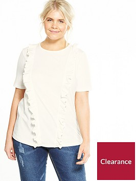 lost-ink-plus-pleat-frill-front-t-shirt-white