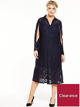 lost-ink-curve-fit-and-flare-lace-dressnbsp