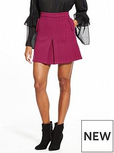 lost-ink-bright-box-pleat-mini-skirt-bright-pink