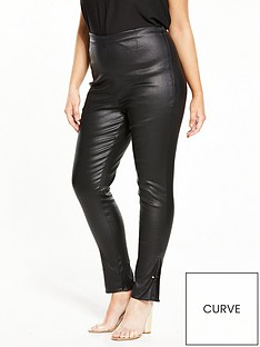 lost-ink-curve-coated-skinny-trouser-with-bar-black