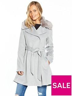 lost-ink-full-skirted-faux-fur-collar-coat-light-grey