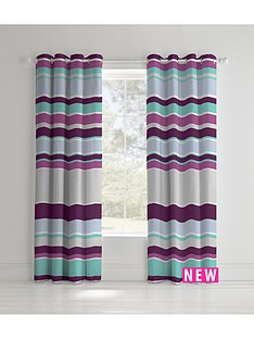 catherine-lansfield-textured-stripe-eyelet-curtains