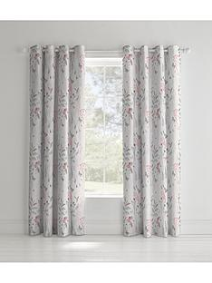 catherine-lansfield-botanical-gardens-lined-eyelet-curtains