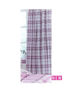 catherine-lansfield-heritage-kelso-check-eyelet-curtains
