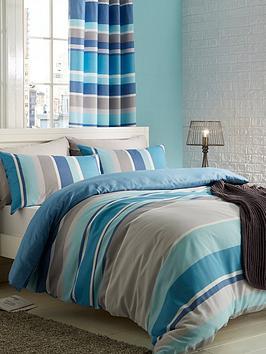 catherine-lansfield-textured-stripe-duvet-cover-set-teal