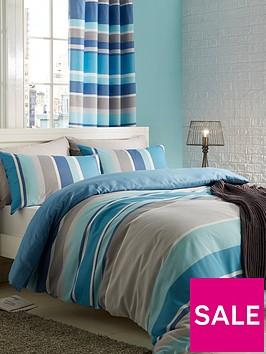 catherine-lansfield-textured-stripe-duvet-cover-set-tealnbsp