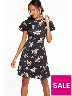 v-by-very-angel-sleeve-printed-dress