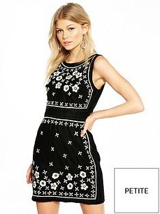 v-by-very-petite-embellished-velvet-shift-dress