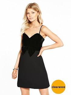 v-by-very-petite-velvet-bow-detail-dress
