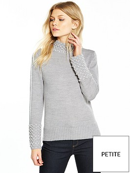 v-by-very-petite-embellished-knit-jumper