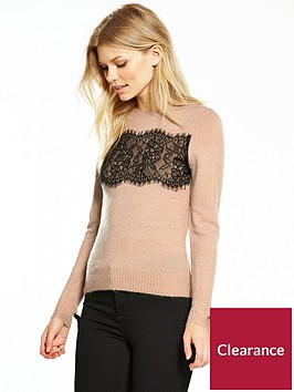 v-by-very-petite-lace-panel-knit-jumper