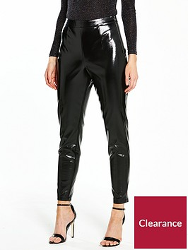 v-by-very-petite-vinyl-slim-leg-trousers