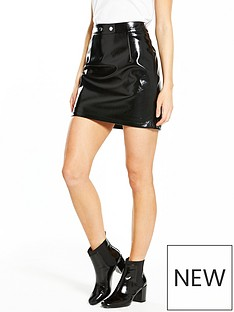v-by-very-petite-vinyl-mini-skirt
