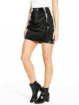 v-by-very-petite-vinyl-mini-skirt