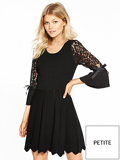 v-by-very-petite-premium-knit-skater-dress