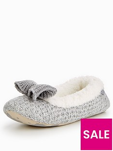 totes-isotoner-totes-shimmer-knit-ballerina-slipper-with-memory-foam-gift-boxed