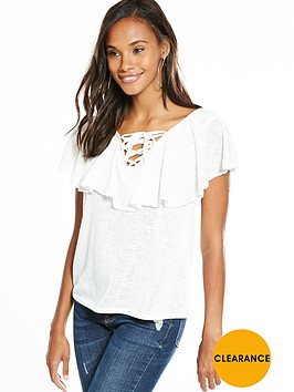 v-by-very-frill-tie-up-front-top-white