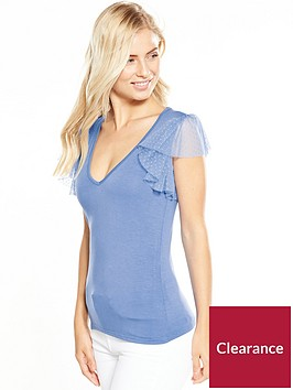 v-by-very-polka-dot-frill-jersey-t-shirtnbsp--baby-blue