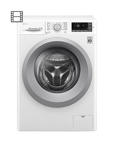 LG F4J5TN4WW 8kg Load, 1400 Spin Washing Machine