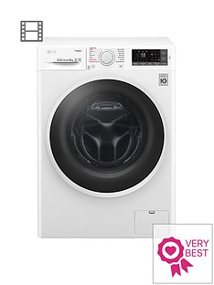 LG F4J6TY0WW 8kg Load, 1400 Spin Washing Machine