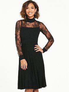 myleene-klass-knitted-lurex-pleated-dress