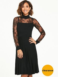 myleene-klass-knitted-lurex-pleated-dress