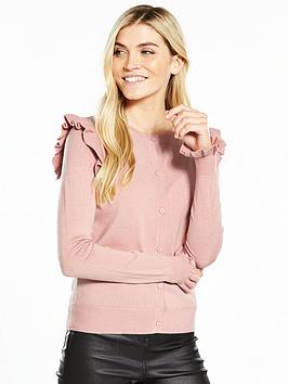 v-by-very-frill-shoulder-and-cuff-supersoft-cardigan-dusty-pink