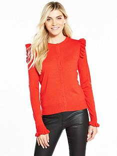 v-by-very-frill-shoulder-and-cuff-supersoft-cardigan
