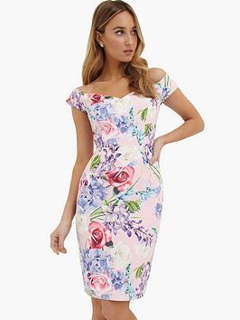 paper-dolls-pretty-floral-printed-bardot-dress