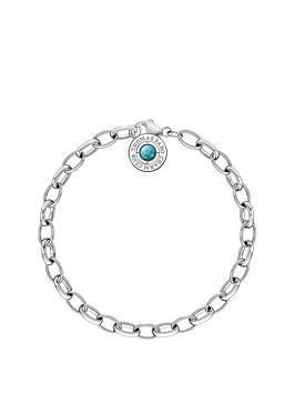 thomas-sabo-sterling-silver-turquoise-stone-charm-club-bracelet