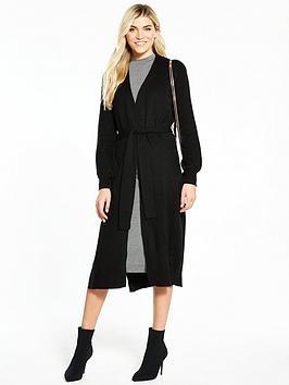 v-by-very-split-side-belted-cardigan