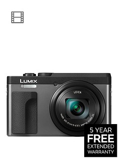 panasonic-dc-tz90eb-k-lumixnbsp203mp-30xnbsptravel-zoom-camera-with-4k-amp-180ordm-tilt-lcdnbsp-nbspsilvernbspwith-extended-5-year-warranty-available