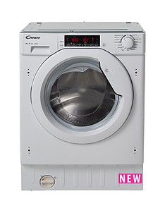 Candy CBWM 916TWH 9kg Load, 1600 Spin Integrated Washing Machine - White