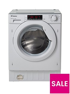 Candy CBWM 916TWH 9kg Load, 1600 Spin Integrated Washing Machine - White Best Price, Cheapest Prices