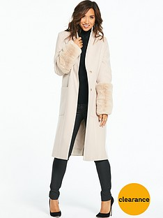 myleene-klass-faux-fur-cuff-coat-cream
