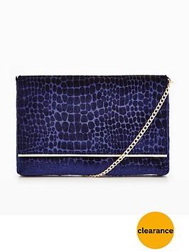 dune-bronto-snake-print-clutch-bag