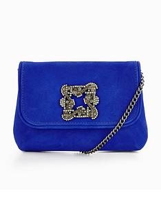 dune-bestonnbspembellished-detail-clutch-bag-blue