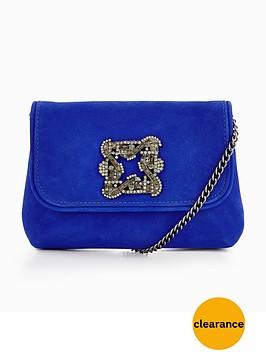dune-bestonnbspembellished-detail-clutch-bag-blue