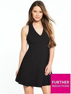 ri-petite-black-skater-dress