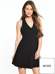 river-island-ri-petite-black-skater-dress