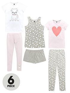 v-by-very-3-pack-pug-love-pyjamas